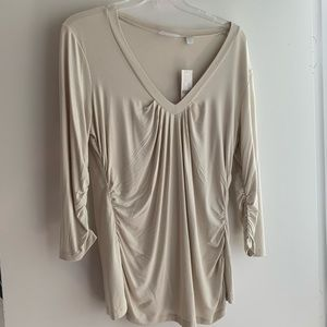 3/4 Sleeve Cream Knit Top